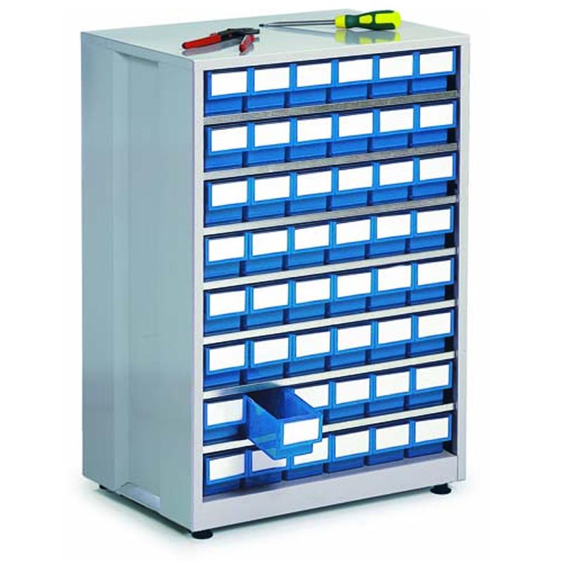 High Density Storage Cabinet - 48 Blue Bins