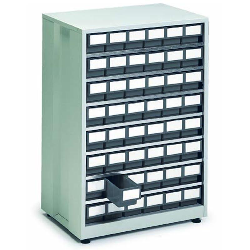 High Density Storage Cabinet - 48 Grey Bins
