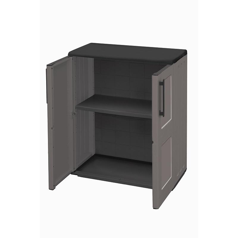 Industrial Utility Compact Cupboard - Double Door - 1 Shelf