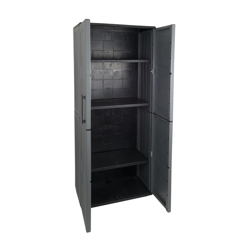 Industrial Large Cupboard - Double Door - 3 Shelves