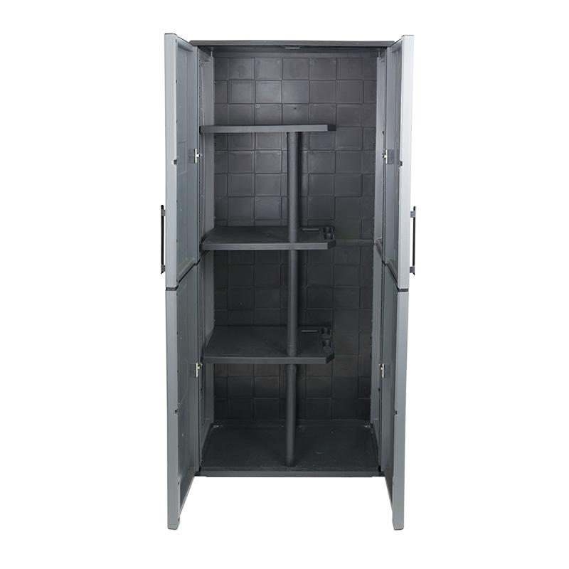 Industrial Utility Cupboard - Double Door - 3 Half Shelves