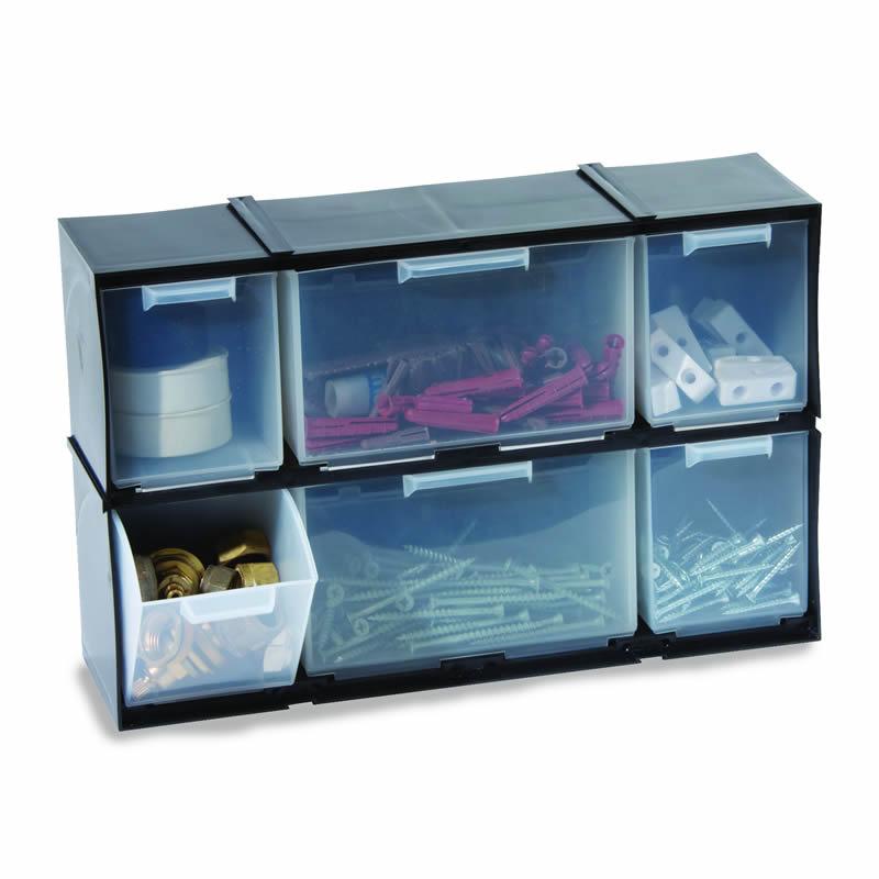 Interlocking Drawer Cabinet - 6 Drawers