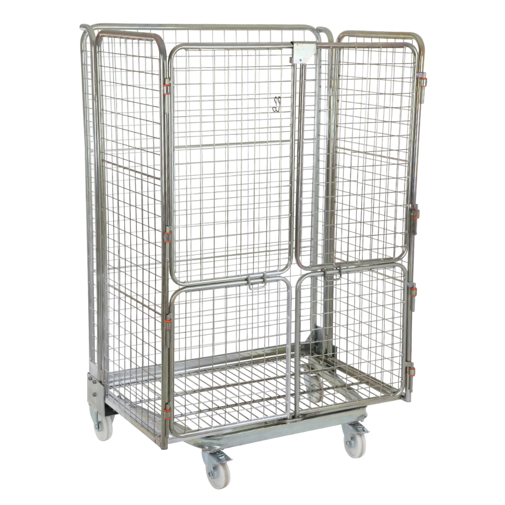 Jumbo Nestable Roll Container with 4 Mesh Infill Sides