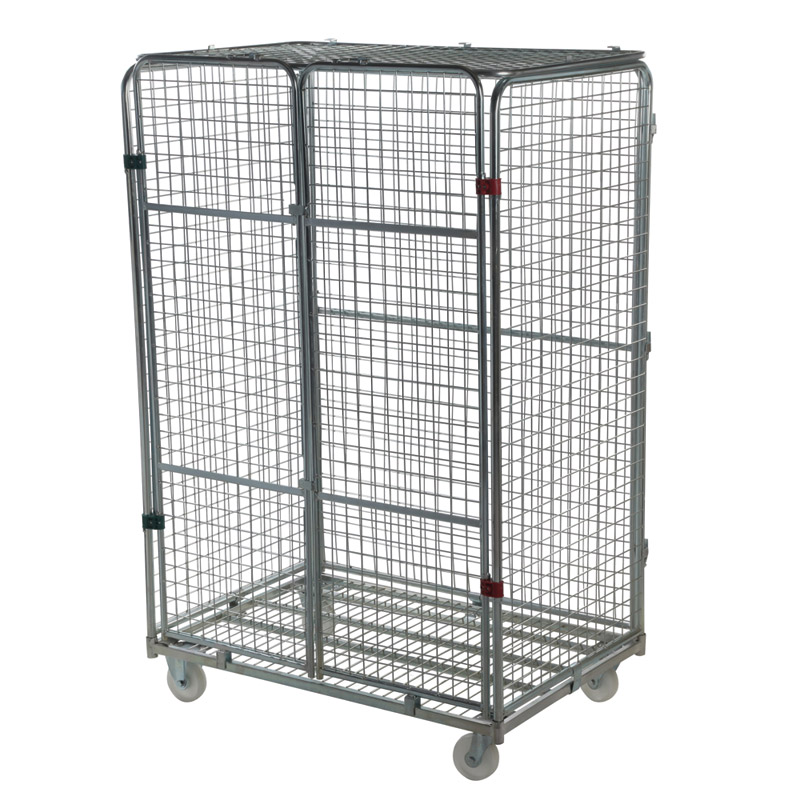 Jumbo Security Demountable Roll Container - 4 Mesh Sides and Lid