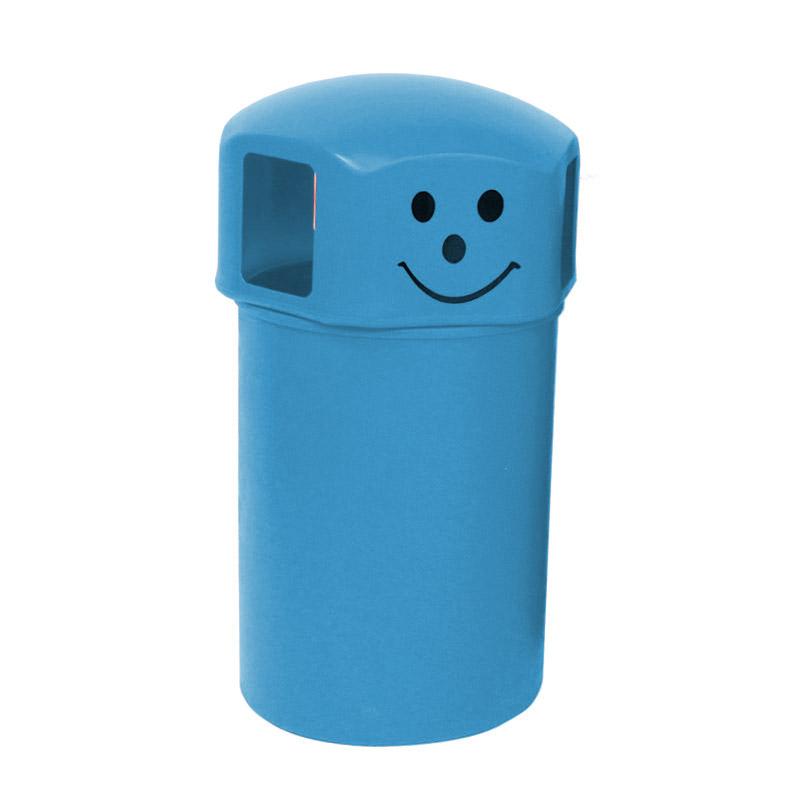 Closed Top Litter Bins - 145 Litre - Smiley Face Logo