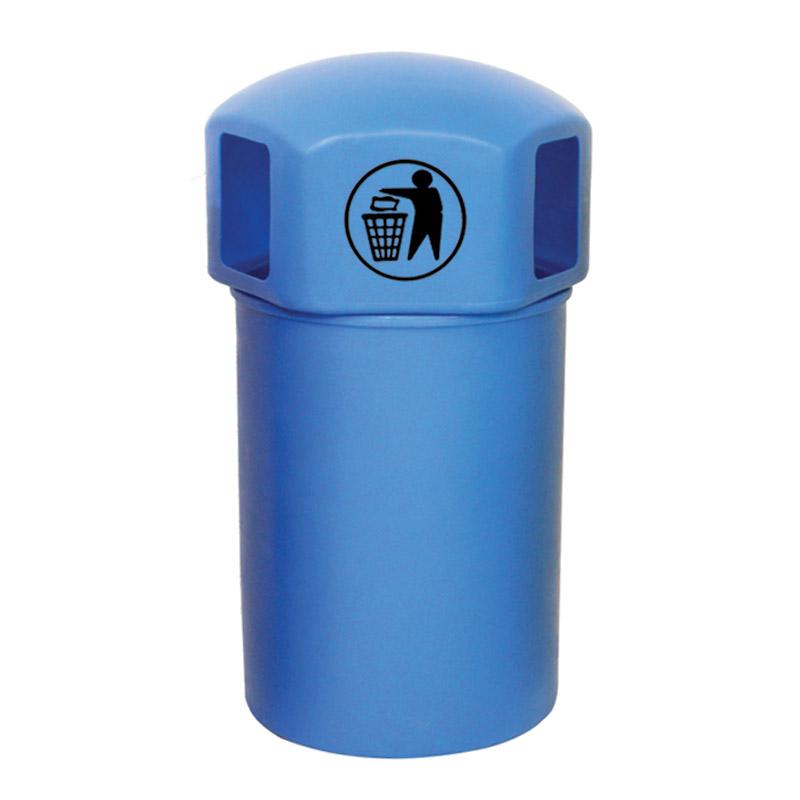 Closed Top Litter Bins - 145 Litre - Tidy Man Logo