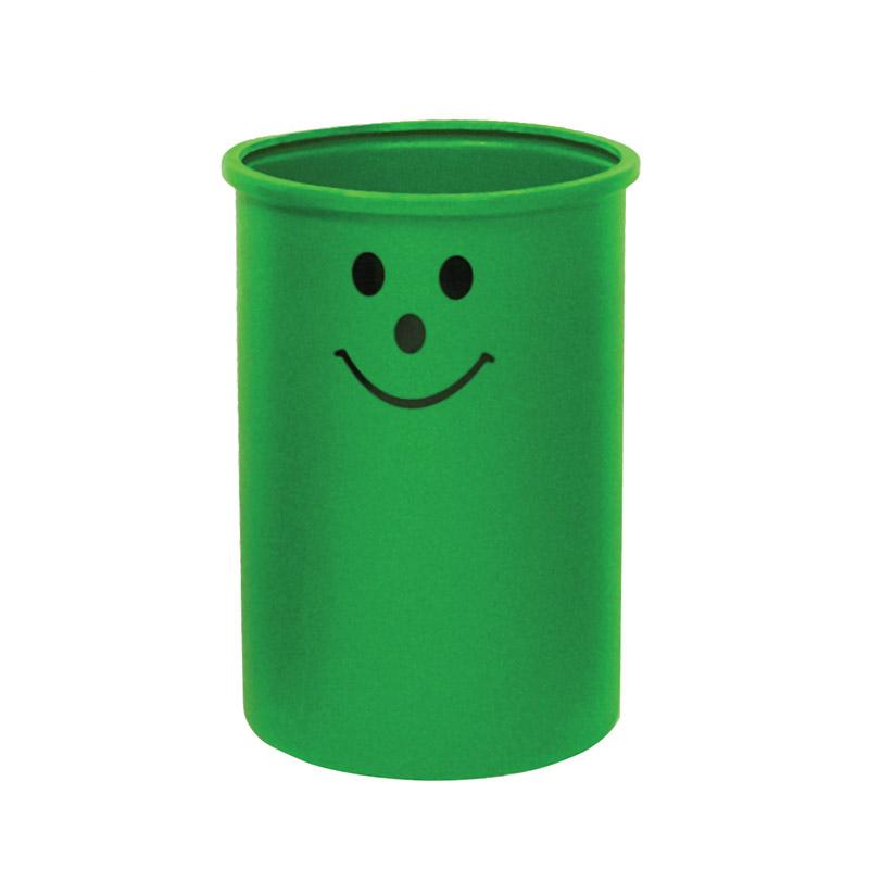 Open Top Litter Bins - 95 Litre - Smiley Face Logo