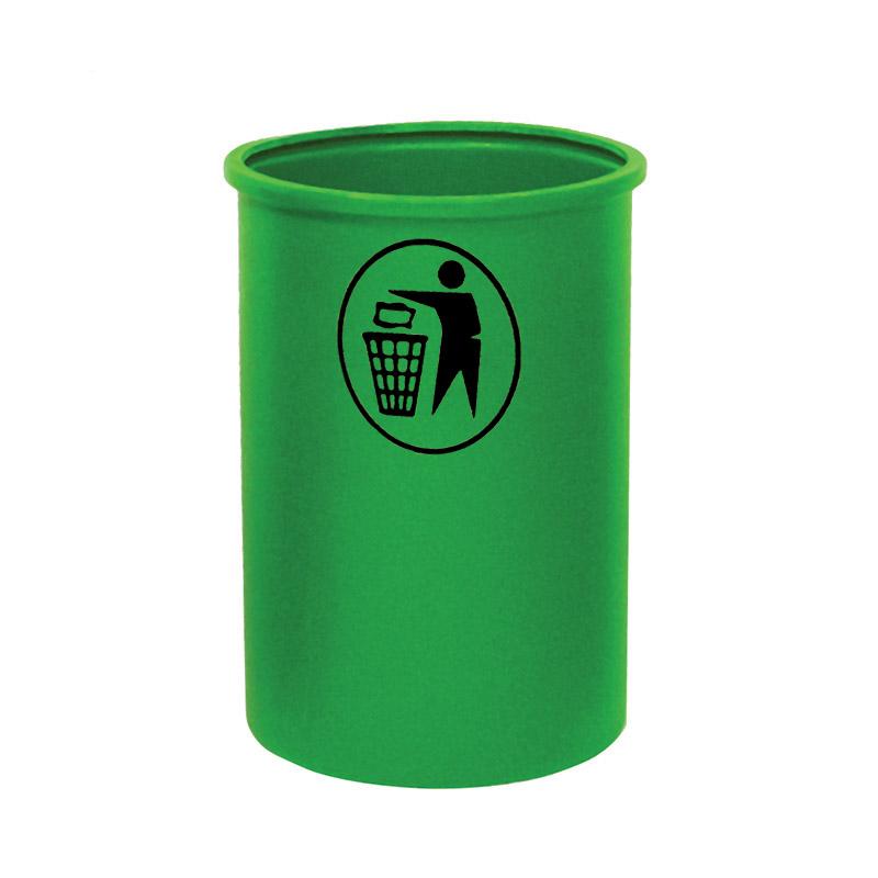 Open Top Litter Bins - 95 Litre - Tidy Man Logo