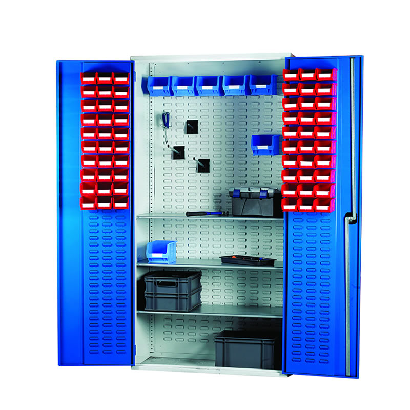 Louvred Panel Cabinet - 2000mm(h) x 1015mm(w) x 430mm(d)