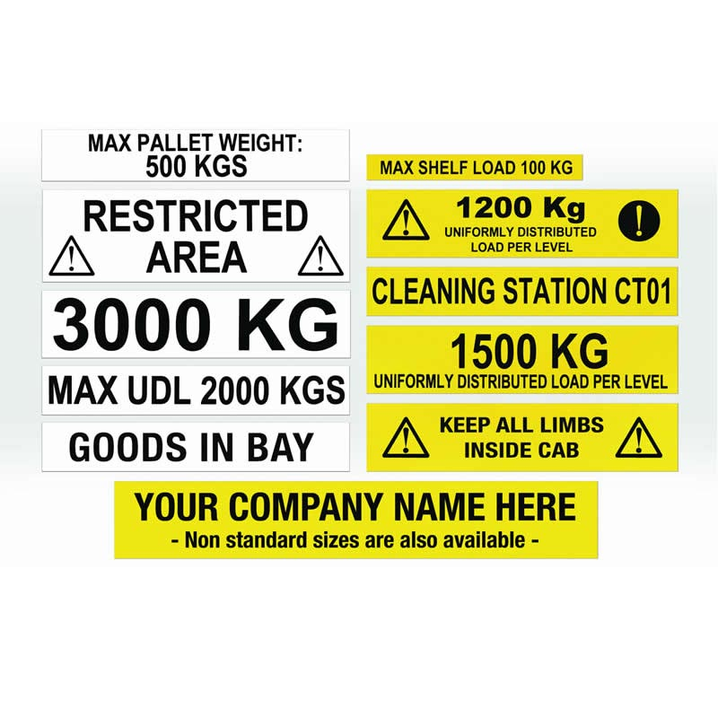 Magnetic Warehouse Information Labels