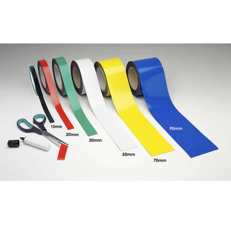 Magnetic Racking Strips - Easy Wipe - 80mm x 10m