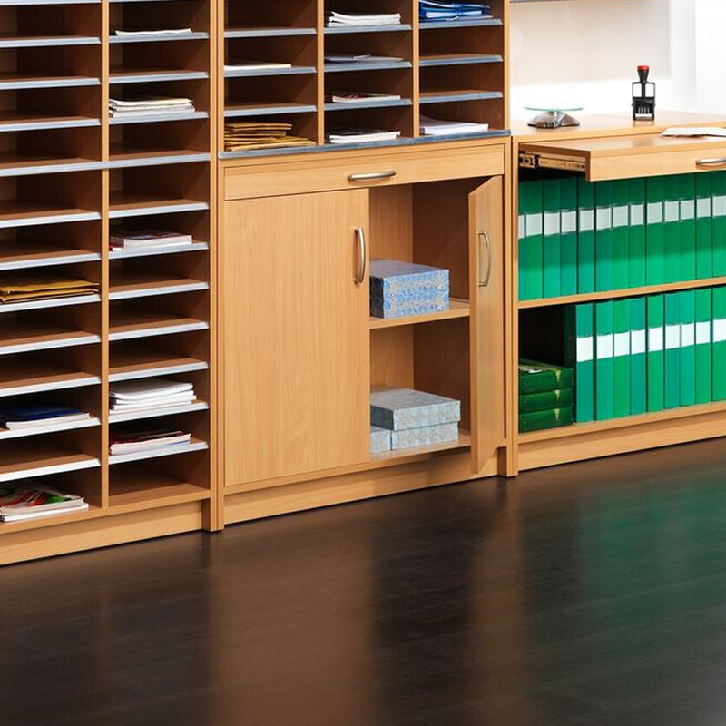 Mail Sorting System - Cupboard With Doors - Beech