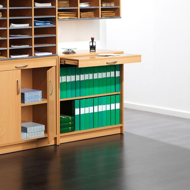 Mail Sorting System - Cupboard Without Doors - Beech