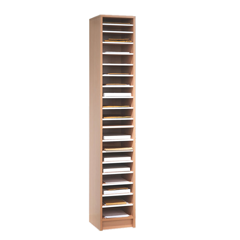 Mail Sorting Shelf Unit - 18 Compartments - Beech