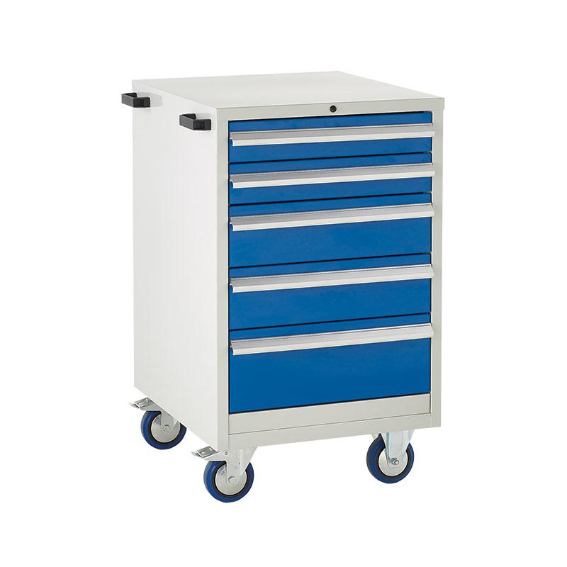 Mobile Euroslide Cabinet - 2 x100mm, 2 x 150mm, 1 x 200mm Drawer