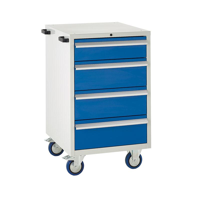 Mobile Euroslide Cabinet - 1 x 150mm, 3 x 200mm Drawers