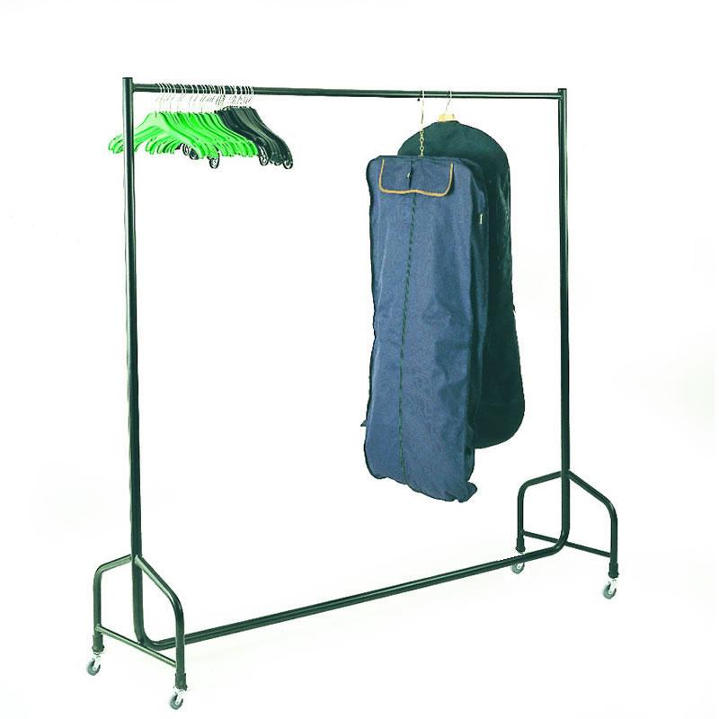 Mobile Single Bar Garment Rails