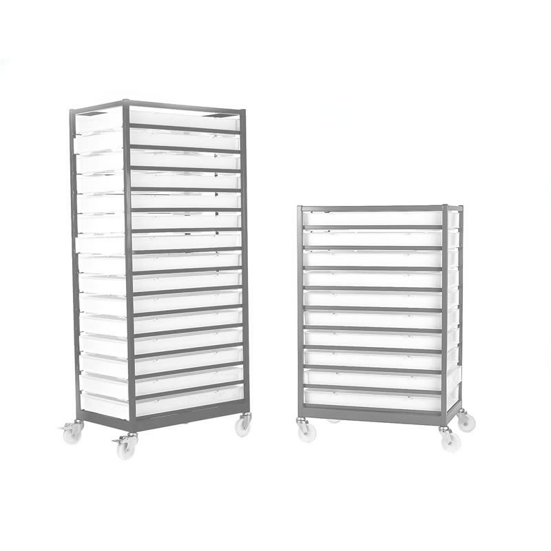 Mobile Tray Rack - Stainless Steel