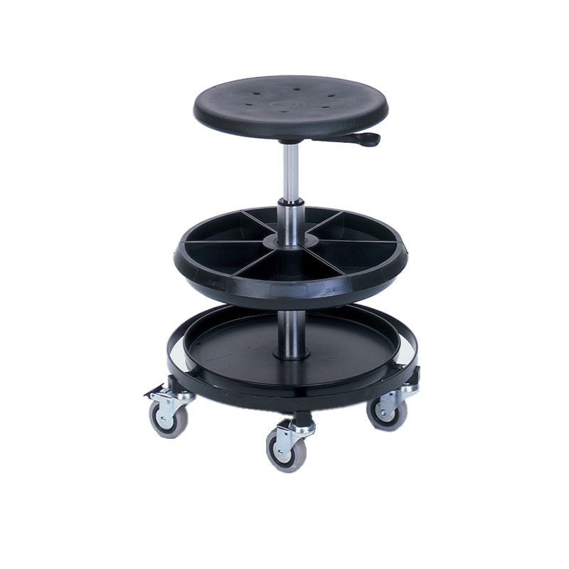 Bott High Mobile Work Stool with 2 Trays