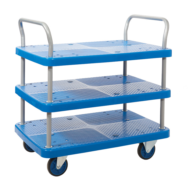 Proplaz Blue - Three Tier Trolley