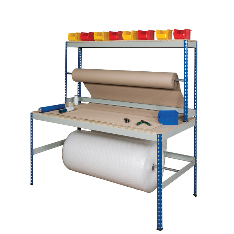 Rivet Wide Packing Workstations - Chipboard Top