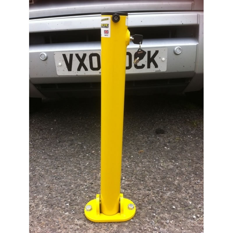 Parking Post - Hinged with Integral Lock (Yellow)