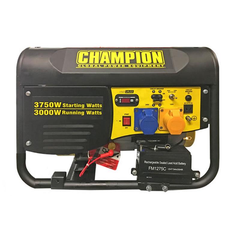 Champion Petrol Generator - 3500 Watts - Electric