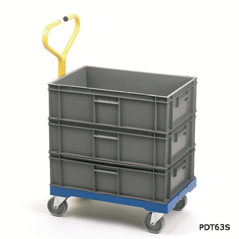 Plastic Dolly with Handle for 400 x 600 Stack Nest Containers