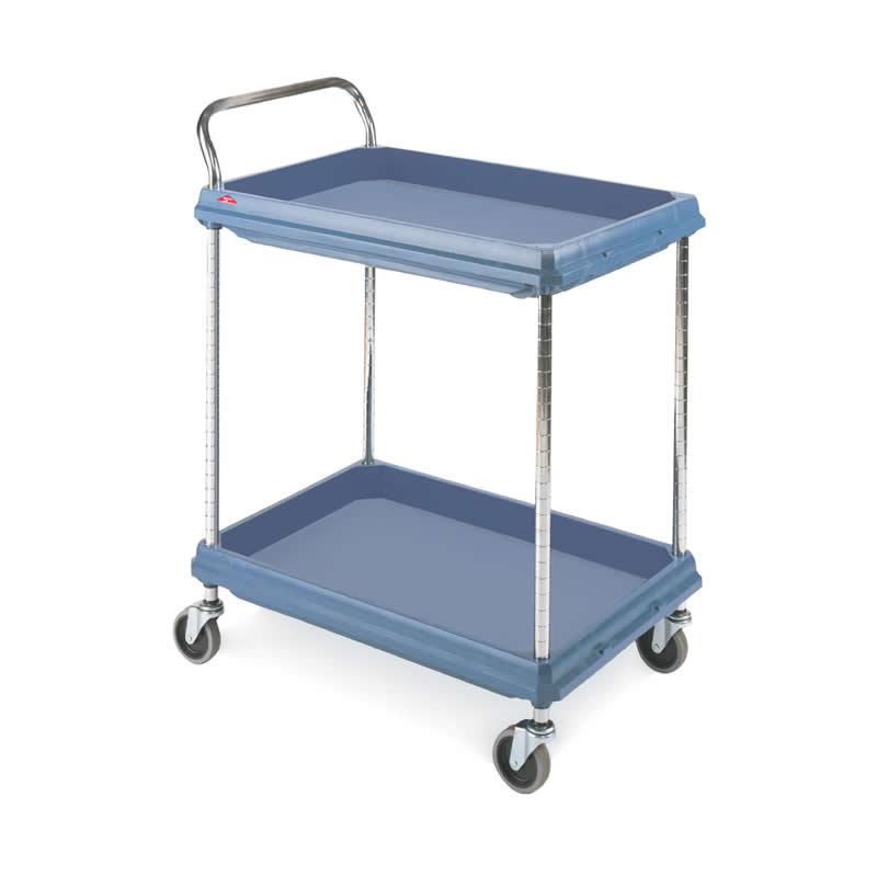 Hygienic Polymer Deep Ledge Trolleys - 2 Shelves
