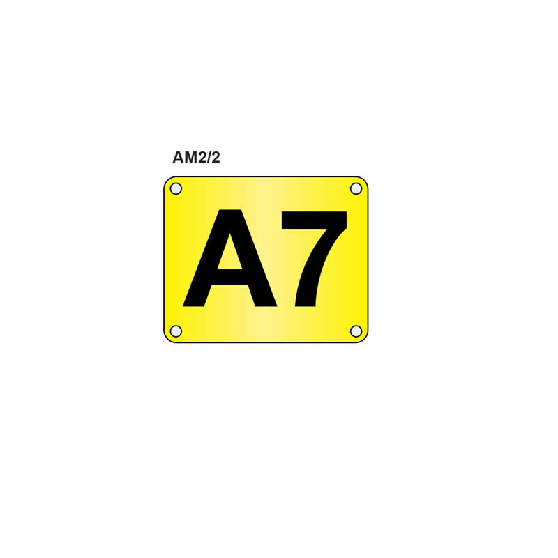Pre-drilled Aisle and Bay I.D. Markers - 220mm x 270mm