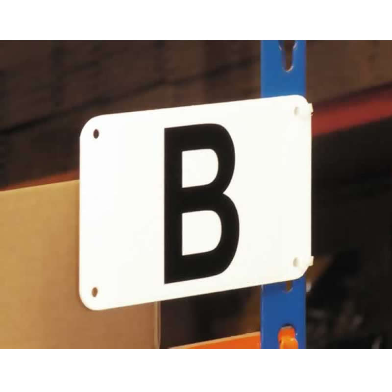 Pre-drilled Shelving Aisle Markers - 95mm x 160mm