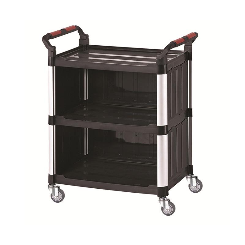 Plastic Shelf Trolley - 3 Shelf with Sides - Small