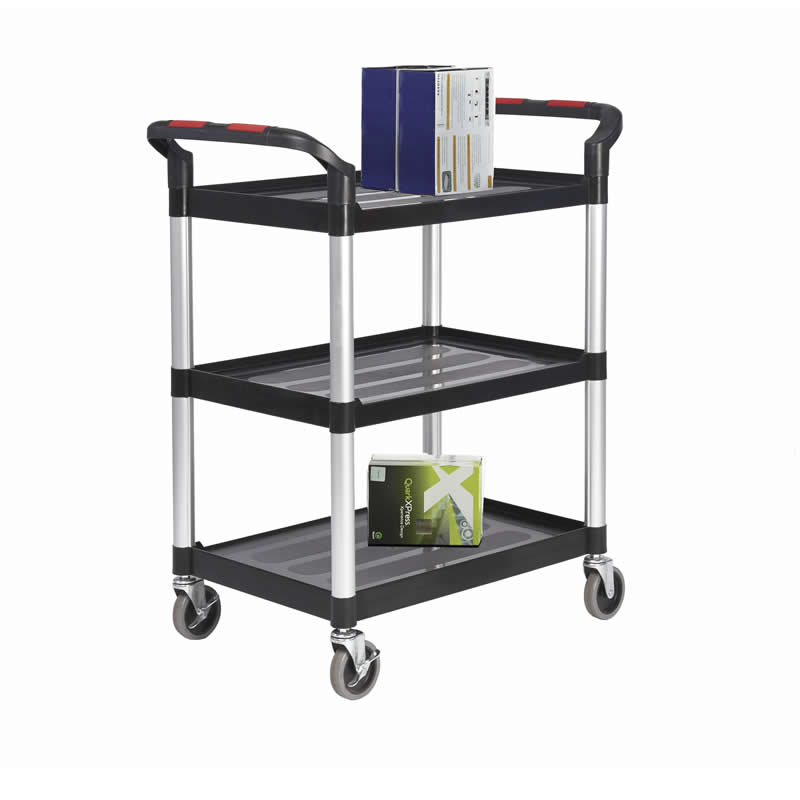 Plastic Shelf Trolley - 3 Shelf - Small