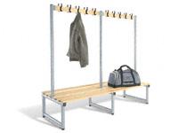 Double hook bench 1000L - specify Timber/Polymer slats