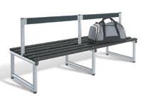 Low back seat, single sided 1000L - specify Timber/Polymer slats