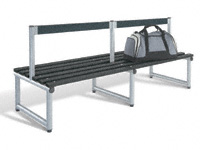 Low back seat, single sided 2000L - specify Timber/Polymer slats