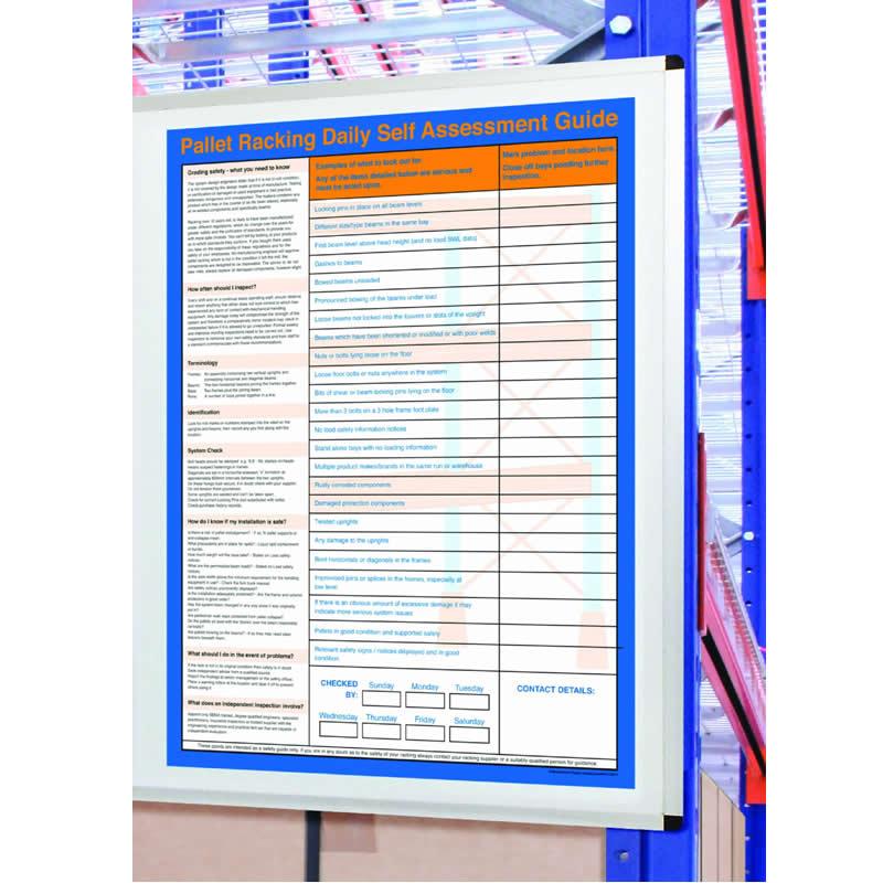 Rack Self-Assessment Chart - 900mm x 690mm