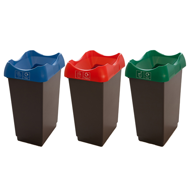 Recycling Bin - 30 Litre - Coloured Lid
