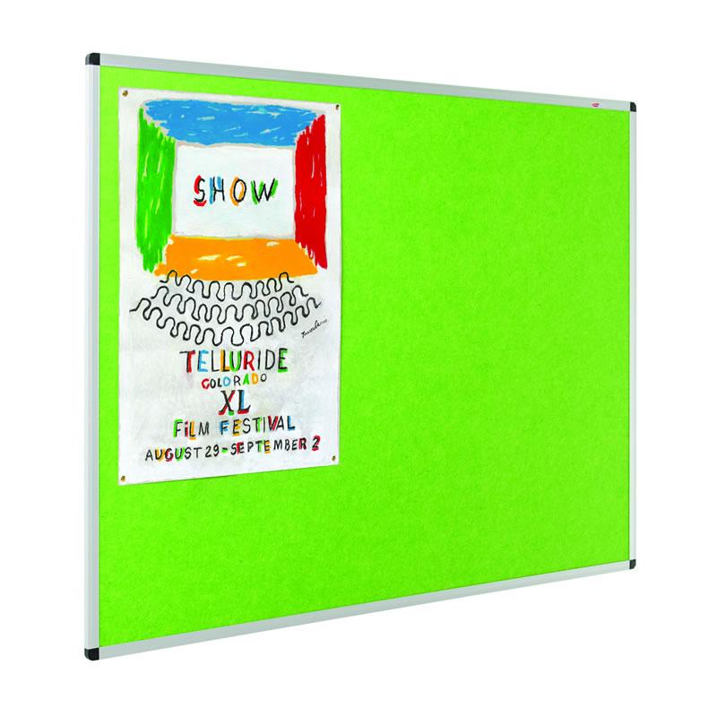 Eco Colour Resist-a-Flame Noticeboards - Aluminium Framed