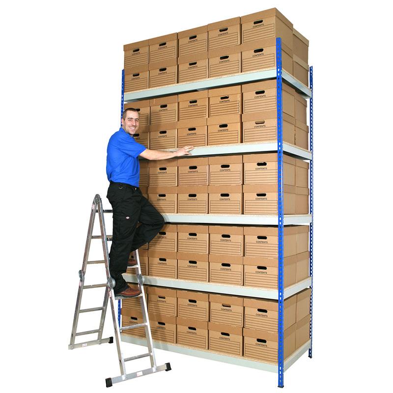 Rivet Archive Storage - Double Boxes - 915mm Deep