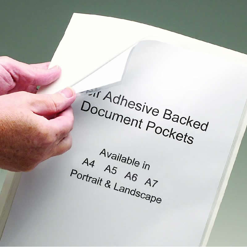 Self Adhesive Document Protection Pockets - Packs of 50
