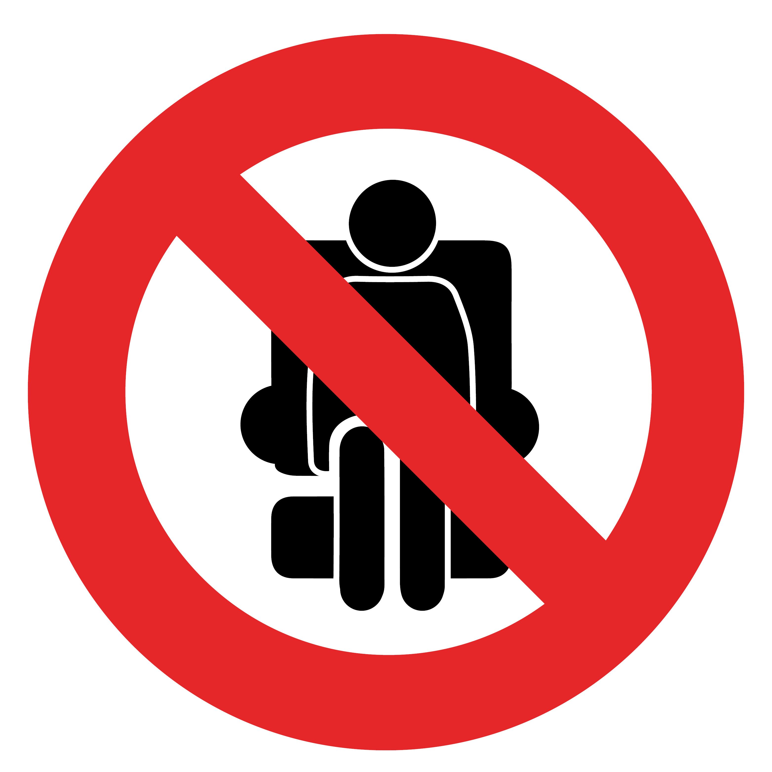 Social Distancing Seat Sticker - Please do not sit here, graphic