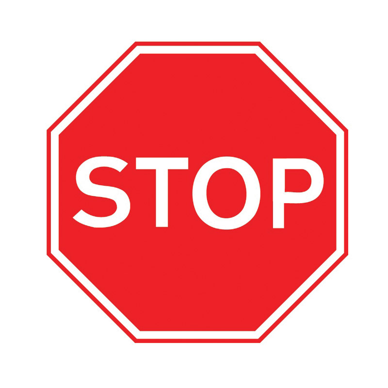 Stop Sign - 450mm x 450mm