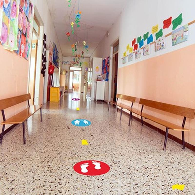 School Floor Markers - Feet - Graphic