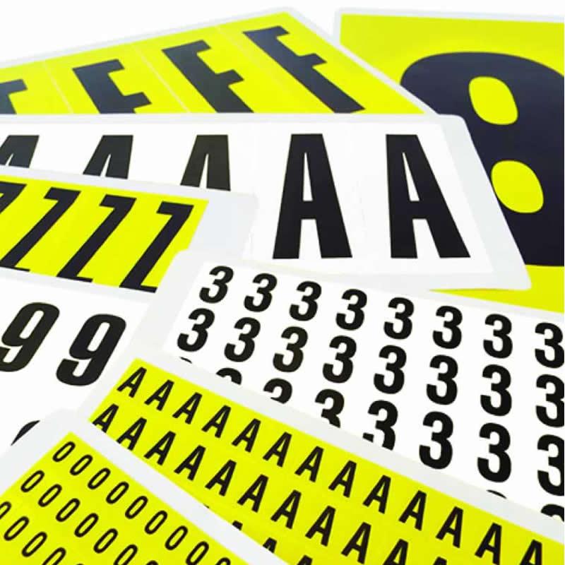 Self-Adhesive Vinyl Number Labels