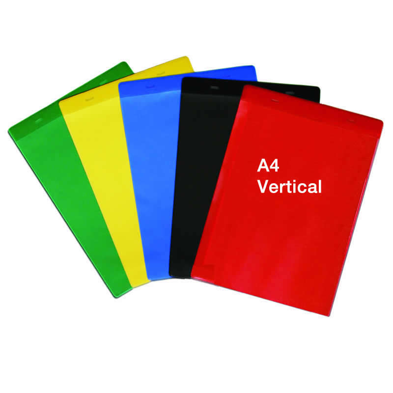 Self Adhesive Rainbow Pockets - A4 Vertical - Packs of 10