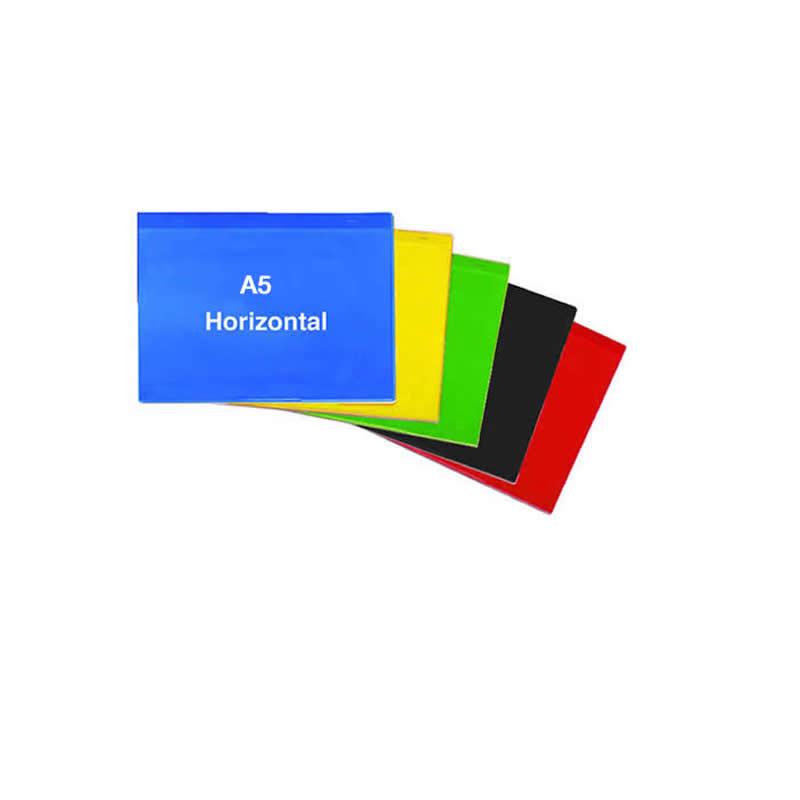 Self Adhesive Rainbow Pockets - A5 Horizontal - Packs of 10