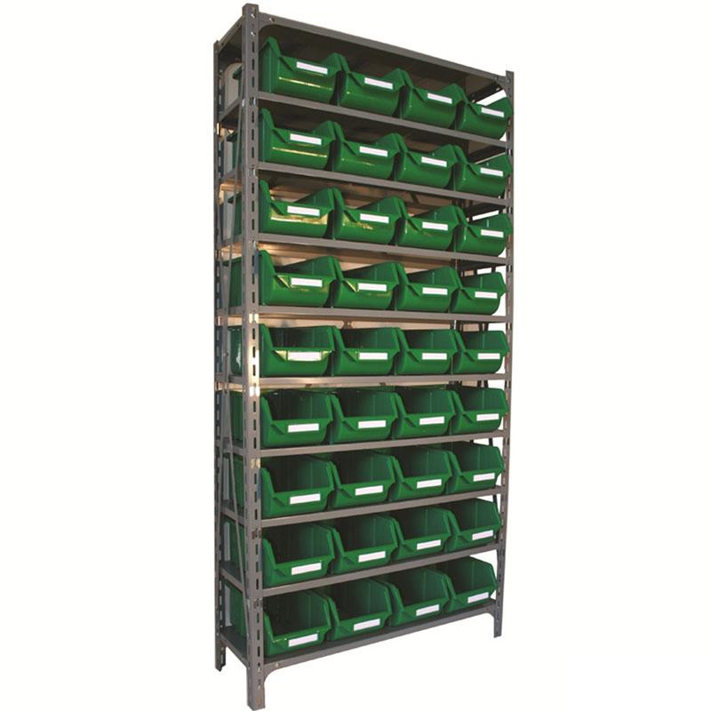 Shelf Unit with Eco Bins - 36 Bins