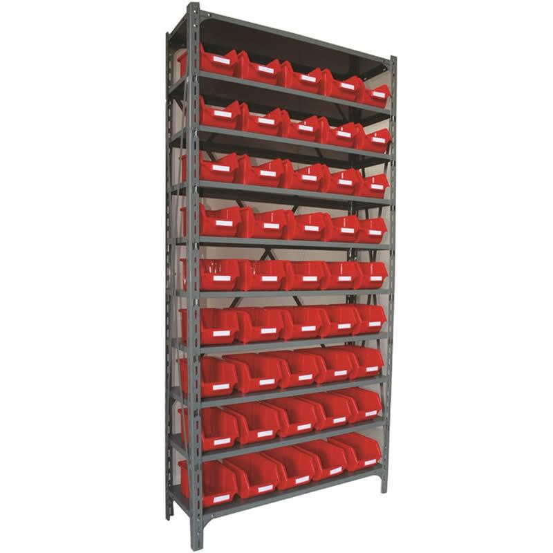 Shelf Unit with Eco Bins - 45 Bins