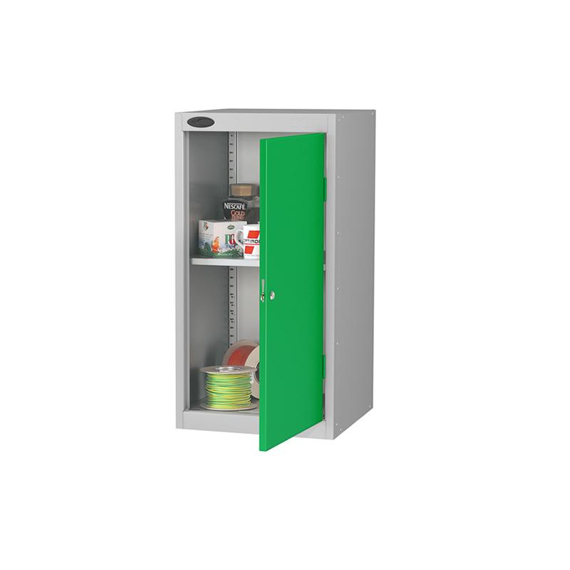 Single Door Low Cupboard with 2 Shelves